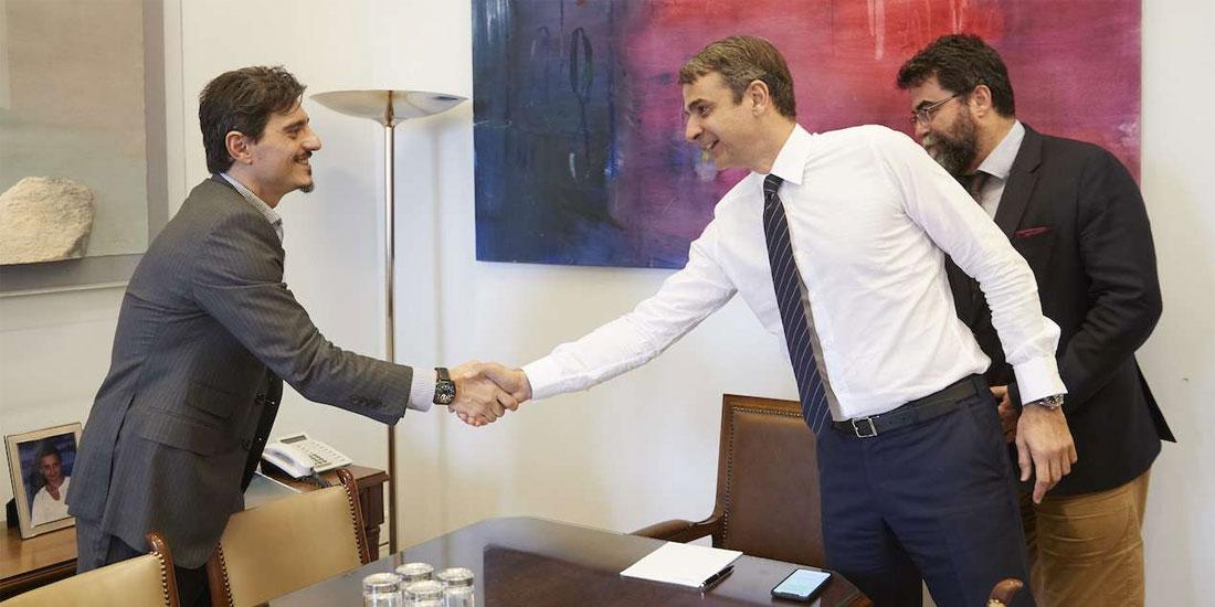 Με εκπροσώπους της Πανελλήνιας Ένωσης Φαρμακοβιομηχάνων συναντήθηκε ο Κυρ. Μητσοτάκης