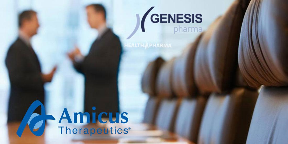 Εμπορική συνεργασία GENESIS Pharma με την Amicus Therapeutics