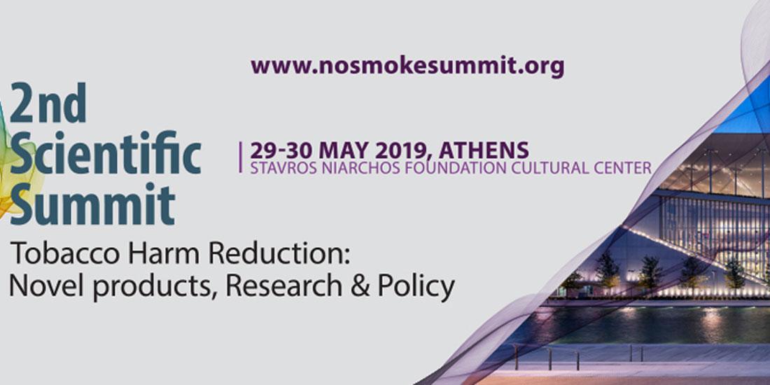 2ο Scientific Summit on Tobacco Harm Reduction: Novel products, Research & Policy