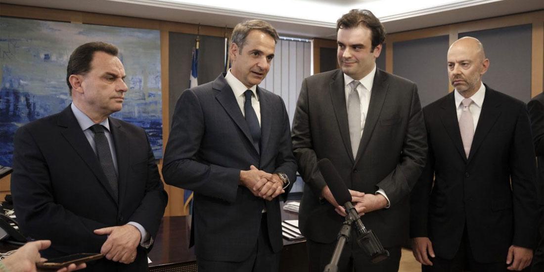 Συνάντηση Μητσοτάκη-Ένωσης Ελλήνων Εφοπλιστών