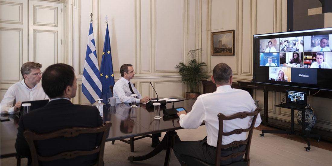 Τηλεδιάσκεψη υπό τον Κυριάκο Μητσοτάκη για τα μέτρα στήριξης του Πολιτισμού