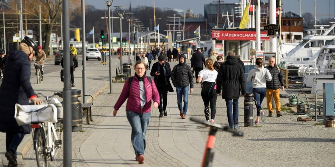 Στον κατάλογο των χωρών με «ισχυρή επανεμφάνιση» του κορωνοϊού η Σουηδία