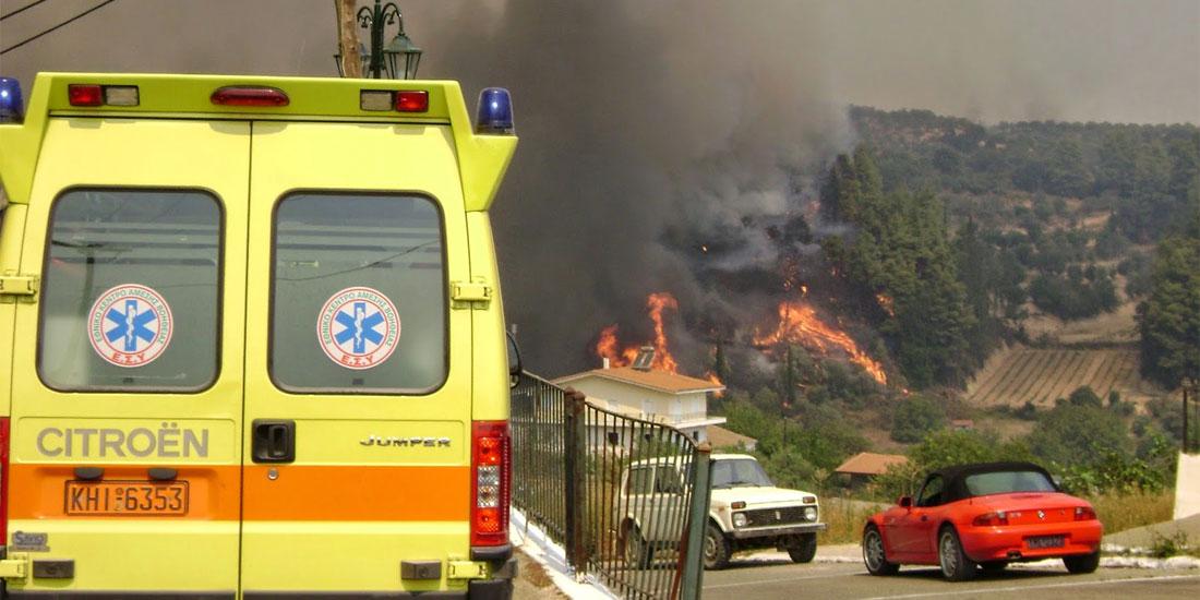 ΕΚΑΒ: Ενημέρωση για τις πυρκαγιές σε Κινέτα και Ανατολική Αττική